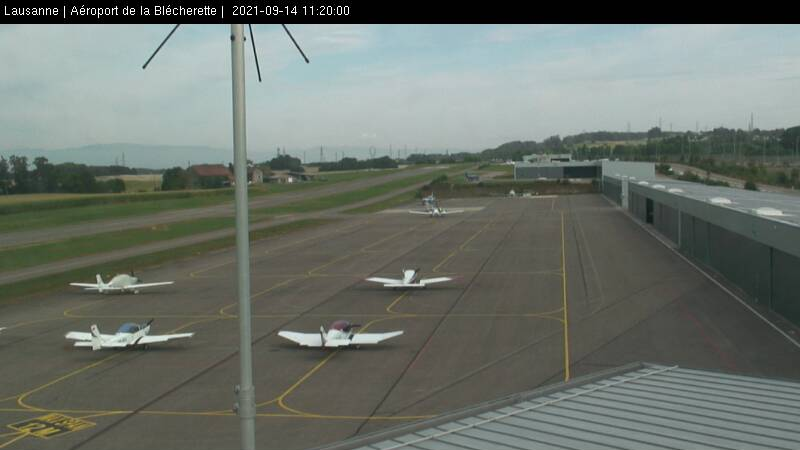 Lausanne aéroport - Webcam nord